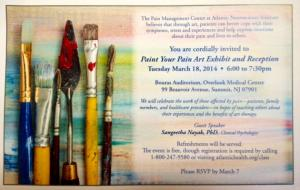 Paint Your Pain Exhibit And Reception